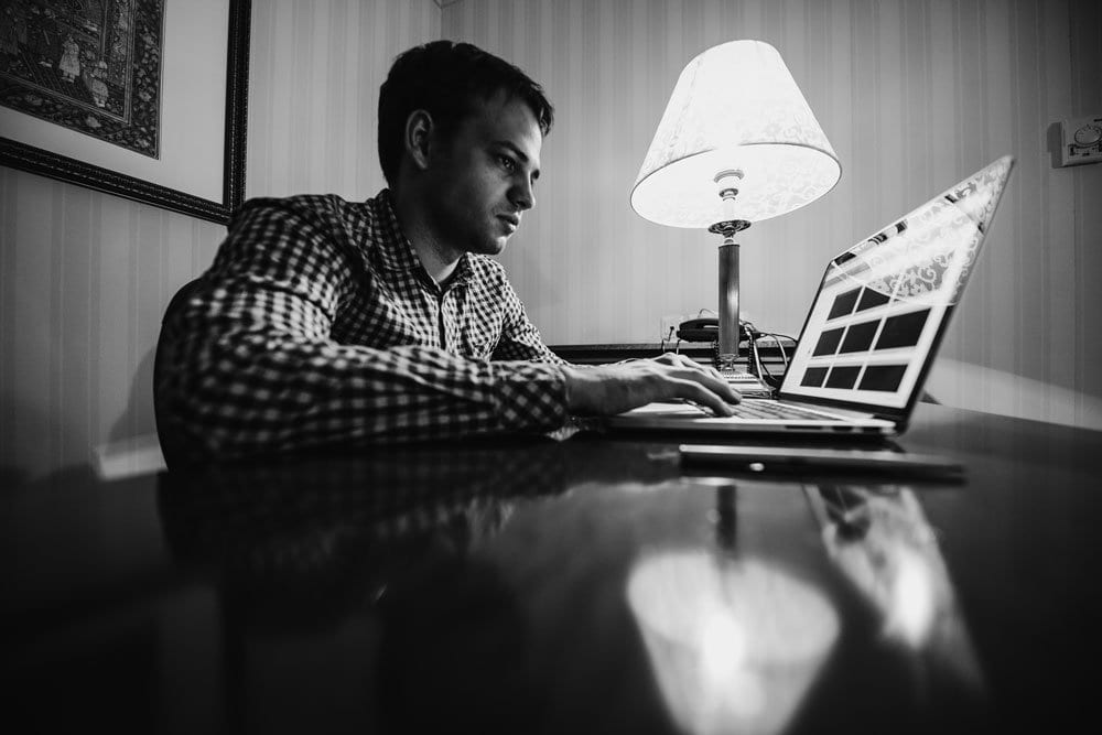 Man Doing Research Because He Might Lose Home And Car In Bankruptcy